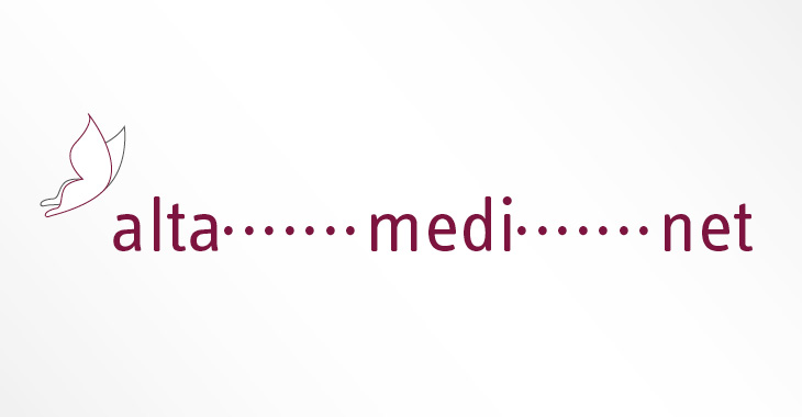 Altamedinet Logo mit Social Distancing